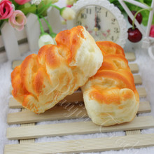 Simulation Bread Squishy Slow Rising Cute 10CM Kawaii Soft Squeeze Cell Phone Strap Scented Bread Cake Stretchy Toy Gift Pendant