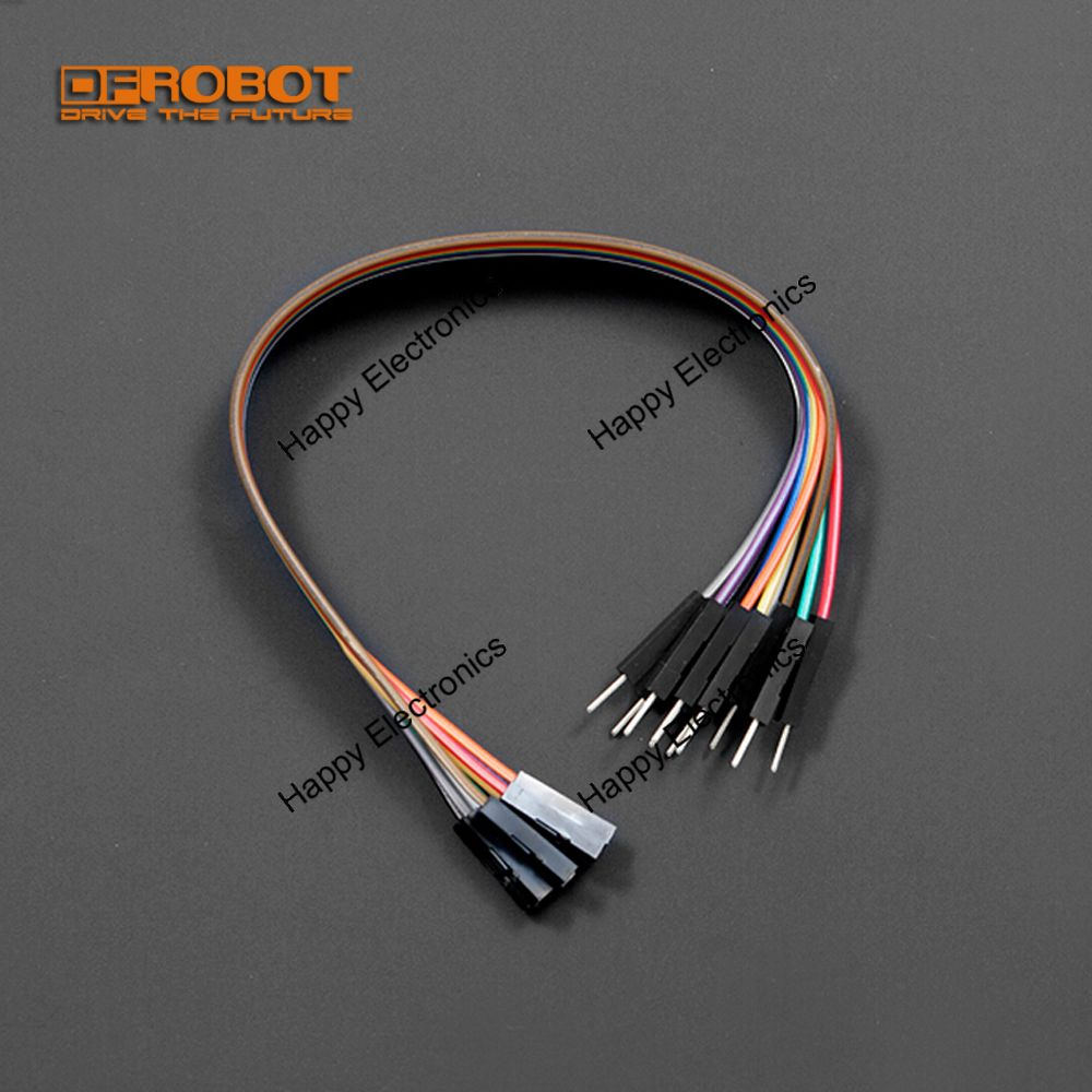 High Quality 30 Pack DFRobot Jumper Wires 7.8 F//M