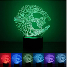 NEW 2017 Tropical Coral Fish 3D USB LED Lamp Moon Ichthyic Shape Colorful Bedroom Livingroom Night Light Decoration Gadget Props