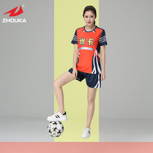 Hot sale 2016 Full sublimation printing set Women's Soccer Uniforms(China)