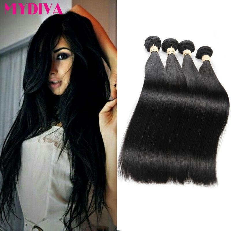 Brazilian Virgin Hair Straight 5 Bundles of Virgin Brazilian Hair Unprocessed 7A Mink Brazilian Hair Weave MYDIVA Human Hair<br><br>Aliexpress