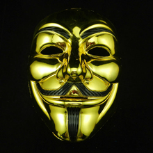 New 1Pcs Party Mask V For Vendetta Anonymous Film Guy Fawkes Face Mask Fancy Dress 2 Colors Free shipping