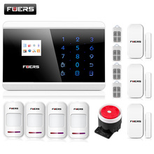 Smart Quad Band LCD Touch Keypad Panel Wireless PSTN Voice Prompt Burglar Alarm GSM Android IOS APP Remote Alarm Security System