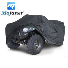 Mofaner Black Universal M/XL 190T Waterproof Quad ATV Cover Vehicle Scooter Motorbike Cover(China)