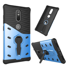 For Lenovo Phab 2 plus Phone Case Shockproof 360 rotating swivel bracket Phone shell Netted heat dissipation Armor Phone Cover