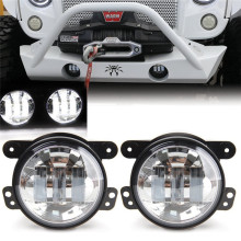 "4"" Round Led Fog Lights 3000K glod light  Off Road Fog Lamps For Dodge Journey/Magnum/Charger Chrysler 300/PT Cruiser"