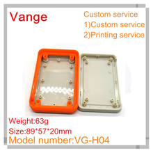 5pcs/lot injection plastic boxes IP54 portable ABS plastic enclosures shell for electronic device 89*57*20mm(China)
