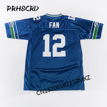 Retro star #12 Fan Embroidered Throwback Football Jersey(China)