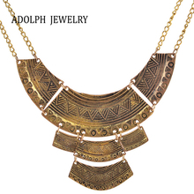 ADOLPH Jewelry New Design Brand Accessories For Women Vintage Multiple Layers Alloy Geometry Pendant Statement Necklace