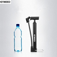 Enkeeo Inflator Bike Pump Aluminum Alloy Mini Portable Bicycle Tire Pump Ultralight Cycling Air Pump For Bike with Guage