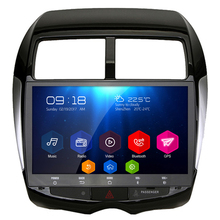 For MITSUBISHI 2007 ASX 10.1 Inch All Touch Button Android 6.0.1 OS Quad Core 16G NO DVD Car GPS Player with radio GPS BT