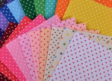 Printed Felt Fabric Polka dot 20 MIX COLORS DIY non-woven felt 15cm X 15cm handcraft