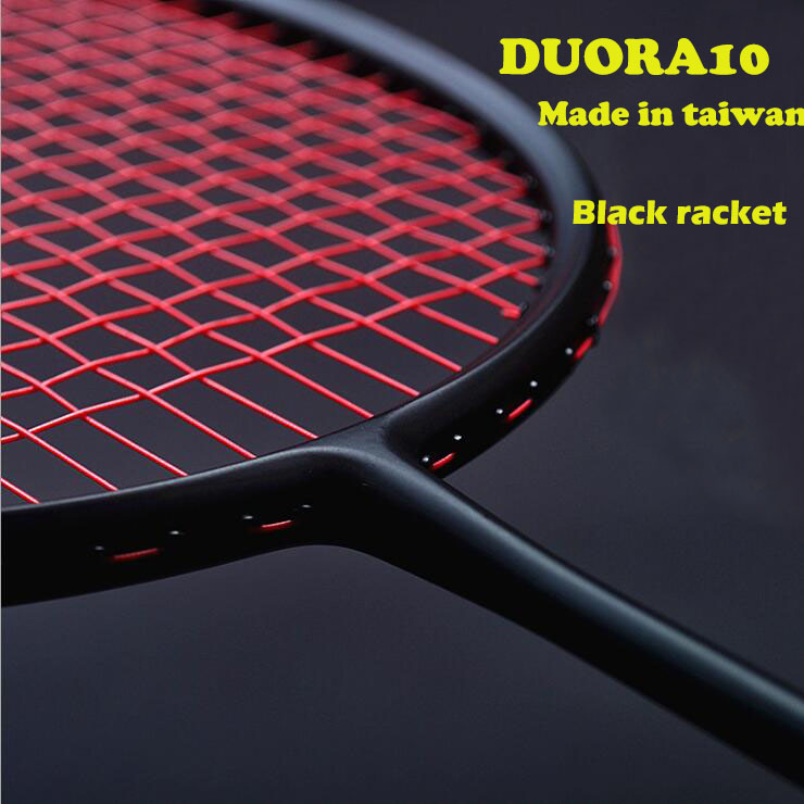 1 PC ZARSIA 3U D10 black/white Badminton racket, quality full carbon Badminton Racket perfect control racket<br>