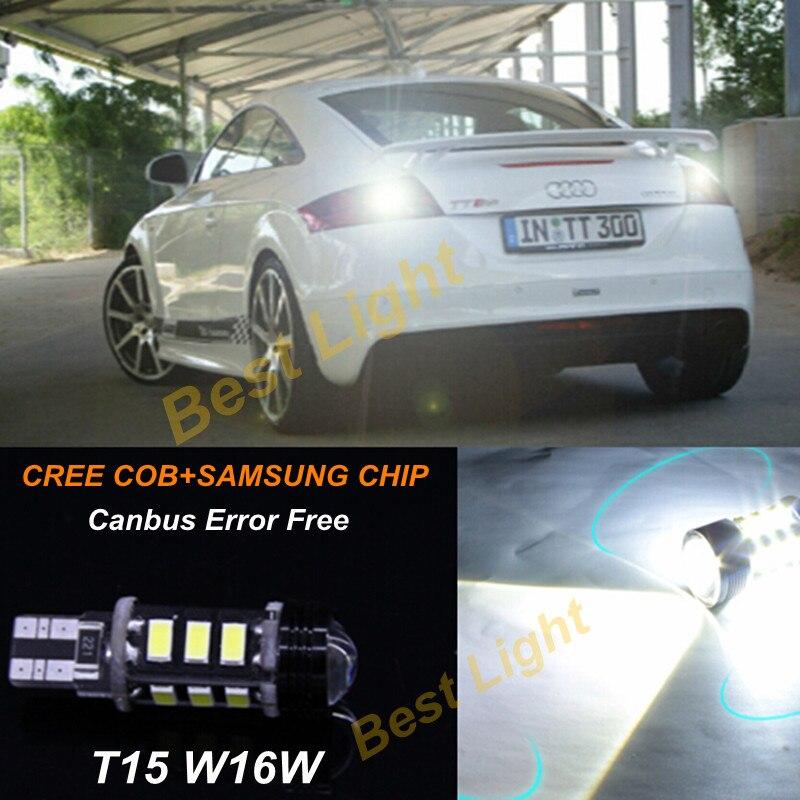1x Reverse Light Bulb T15 W16W  Canbus Error Free  CREE Chips +SAMSUNG  LED  For Audi A1 A3 A4 A5 A6 A8 Q3 Q5 Q7 TT A6L A4L<br><br>Aliexpress