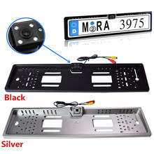 2.4GHz Wireless Waterproof 170 degree CCD Night Vision European License Plate Frame Backup Car Number Rear View Reverse Camera