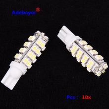 10PCS T10 38 SMD Led Automotive Bulb 38 Leds 3528 SMD W5W 168 194 921 Interior Parking Lights Lamps Bulbs 12V DC