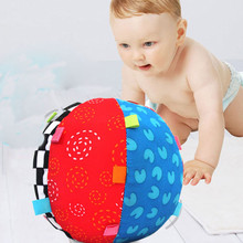 Funny Colorful six color Baby Children's Ring Bell Ball Baby Toy Ball rattles Develop Educational cotton Bell Ball Toys Grasping(China)