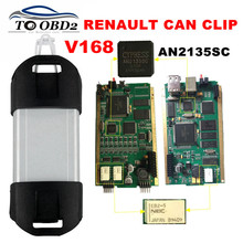 Best Quality Full Chip CYPRESS AN2135SC Renault Can Clip V168 OBD2 Diagnostic Interface Multi-Language Can Clip For Renault