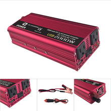 USB 2000W Watt DC 12V to AC 110V Portable Car Power Inverter Charger Converter Adapter DC 12V to AC 110V Modified Sine Wave 60HZ(China)