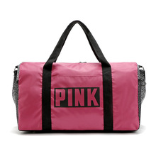 NEW  Large Capacity PINK  Tote Bag VS walk Duffel Bag Shopping Bag outwork bag