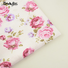 Booksew New Arrivals Home Textile 100% Cotton Twill Fabric Printed Flower Design Sewing Cloth For Baby DIY Patchwork Crafts Tela(China)