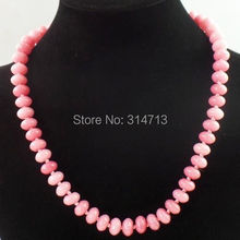 1Strand Beautiful Pink 10x6mm Argentina Rhodochrosite Abacus Beads Necklace 17.5 inch R3813