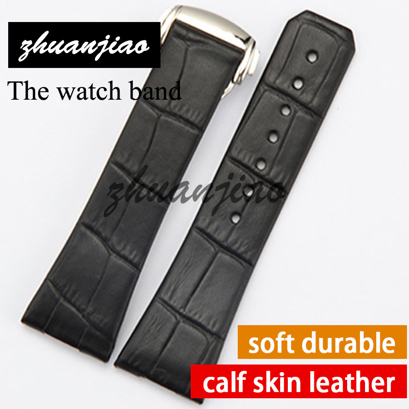 23mm 17mm Genuine Leather Watchband with a black or brown, purple and other colors, with a butterfly, for boys and girls to wear<br>