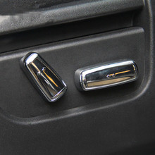 4pcs Car Seat Adjustment Buttons Trim Cover Decals Chrome ABS Trim For Land Rover Freelander 2 2007-15 Auto Interior Accessories(China)