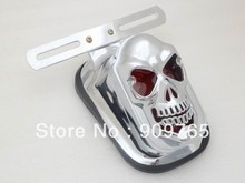 Free Shipping 1 PCS New Skull Skeleton Rear Tail Light Mount Plate for Honda VT Suzuki Kawasaki Yamaha V-star XV Chopper Custom