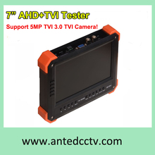 "Freeshipping 5MP 3MP TVI 3.0 Security tester with HDMI input,CCTV HD-TVI & AHD CCTV Tester Monitor with 7"" LCD screen"