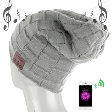 new wireless bluetooth headset hat knitted bluetooth cap headphone warm winter hats music player earphone fashion head cap gift