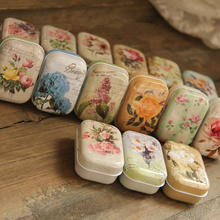 32pcs/lot Vintage Flower Printing Mini Tin Box for Jewelry Wedding Favor Candy Decorative Storage Boxes, Cute Coins Tea Case
