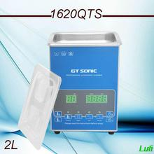Newest Free shipping AC110v/220v 2L ultrasonic cleaner timer& heater&degas&memory &sweep for Jewerly use(China)