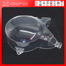 Transparent plasitc Engine Cover For Lifan YX Kick Start Horizontal Engine Zongshen Yingxiang Engine Parts dirt pit bike