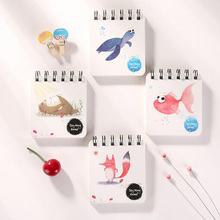 DIY Cute Kawaii Flower Coil Sketching Book Cartoon Animal Notebook For Kids Paint Draw Korean Stationery Free Shipping 2062(China)