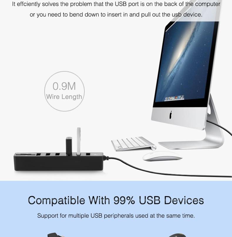Must või valge USB jagaja
