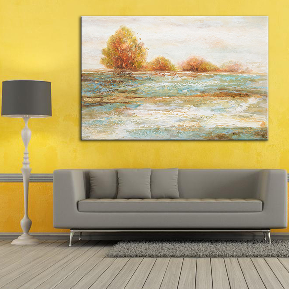 Abstract-River-Water-Hand-Painted-Oil-Painting-Tree-Canvas-Paint-Large-Wall-Art-Decor-Pictures-For (3)
