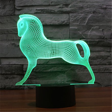2017 Children Amusement Park Carousel RGB Touch LED Table Lamp Baby Bedroom 7 Colors Gradient 3D Night Light -245