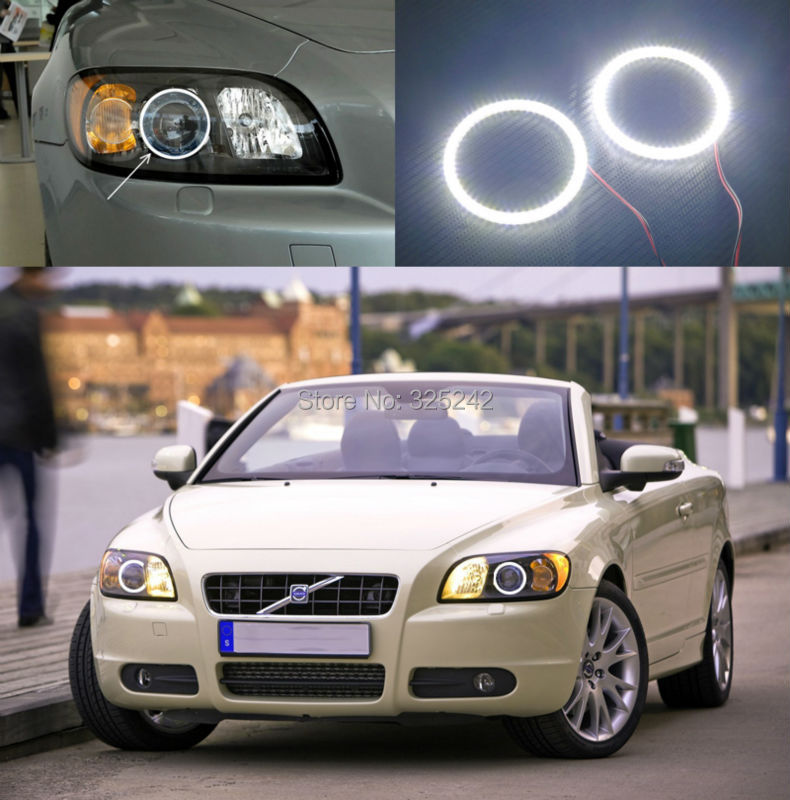 For Volvo C70 2006 2007 2008 2009 Excellent led Angel Eyes Ultrabright illumination smd led Angel Eyes Halo Ring kit<br><br>Aliexpress