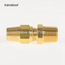 "2pcs 1368 SAE 120102BA 1/4"" 3/8"" 1/2"" Male NPT Brass Pipe Fitting Air Brake Copper Tubing Male Connector"