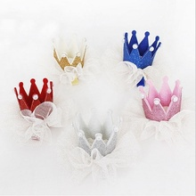 Hot Sale Kids Girls Xmas Dacing Party Lace Hair Clips Crown Pearl Princess Barrette Ribbon Hair Beauty Accessories