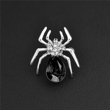 Atreus Fantastic Gold Color Cheap Factory Price Jewelry Spider Shape Brooches Pins For Women Men Crystal Shirt Collar Brooch(China)