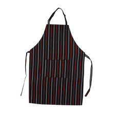 5 Patterns Women's Men's Practical Kitchen Restaurant Chef Cooking Fashion Korean Style Sleeveless Aprons With Pockets Hot Sale