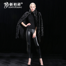 XIN YUXIANG 2017 New Real Mink Fur Coat Jacket Natural Vest Women Female winter clothing Customizable Long Coats warm removable(China)