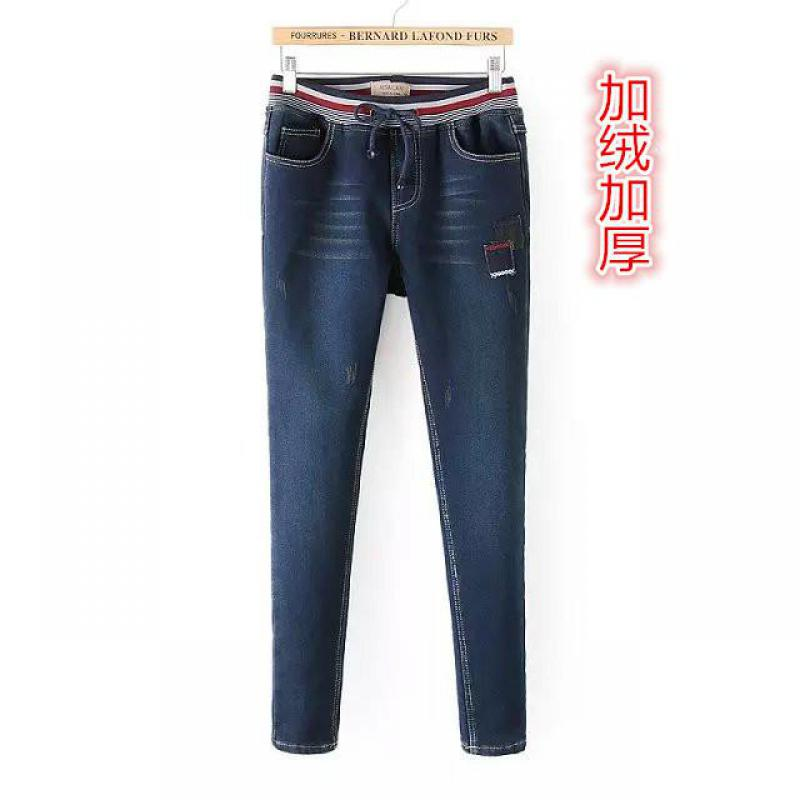 2017 New With Winter And Autumn The Version Cashmere Cloth Stretch Jeans Elastic Waist Women Fashion Free ShippingОдежда и ак�е��уары<br><br><br>Aliexpress
