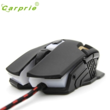 CARPRIE Adjustable 2400DPI 6D Optical Wired Gaming Game Mice Mouse For Laptop PC BK Mar7 MotherLander