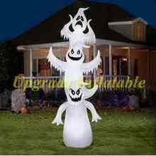 cheap inflatable Halloween decoration led lighting 3 inflatable ghost balloon for yard