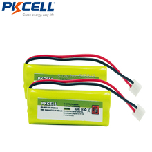 5/4AAAA 2.4V 400mAh Cordless Phone Battery for BT-18443 BT-28443 Wireless Home Handset Telephone Pack of 2(China)