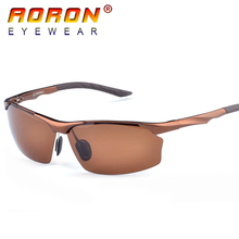 2017 Aoron Brand High-grade Men Aluminum Magnesium Protection Drivers Sunglasses Polarized Eyewear Accessories Glasses YJ8513