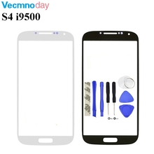 Vecmnoday 5.0'' Touch Screen panel Replacement For Samsung Galaxy S4 S IV i9500 i9505 LCD Front Outer Glass Cover Lens With Logo